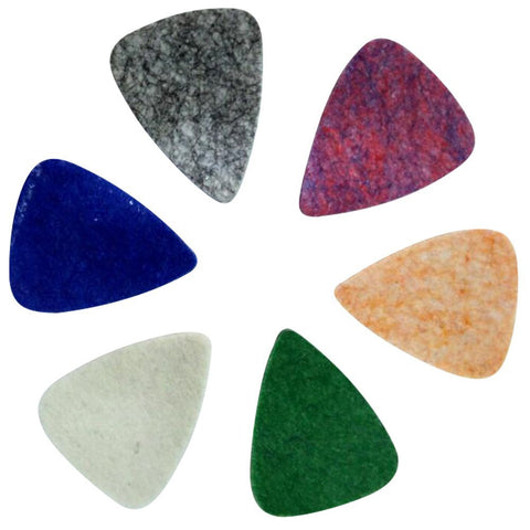 Ukulele Picks 6-Pack Colorful - Uke Felt Pick Feltrum