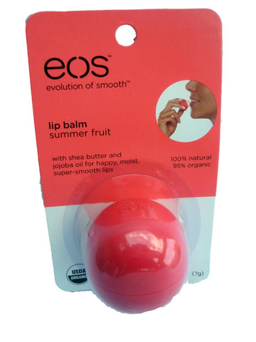 eos Summer Fruit Lip Balm - Evolution of Smooth - .25 Ounce Each (Package of 2)