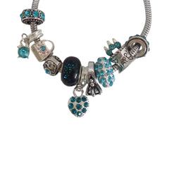 Ocean Blue Rhinestones N8 European Style Beads Charms for Bracelet Necklace Fit Pandora