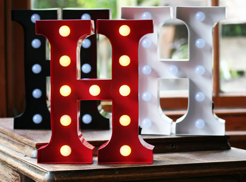Metal H LED Letter Light
