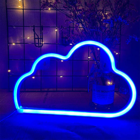 BLUE CLOUD Acrylic Neon LED Light