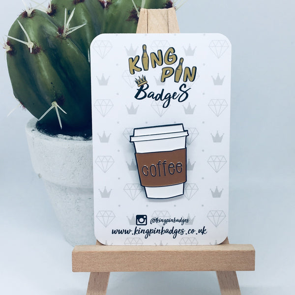 COFFEE CUP Enamel Pin Badge