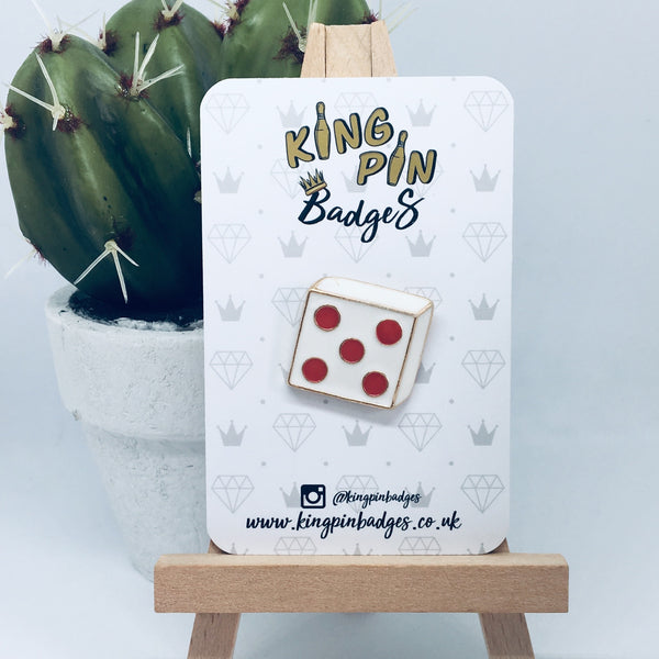 DICE Enamel Pin Badge