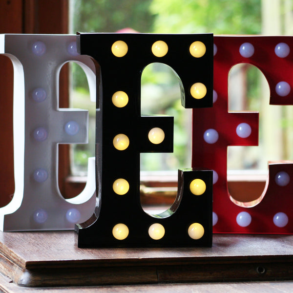 Metal E LED Letter Light