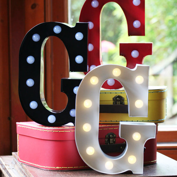 Metal G LED Letter Light