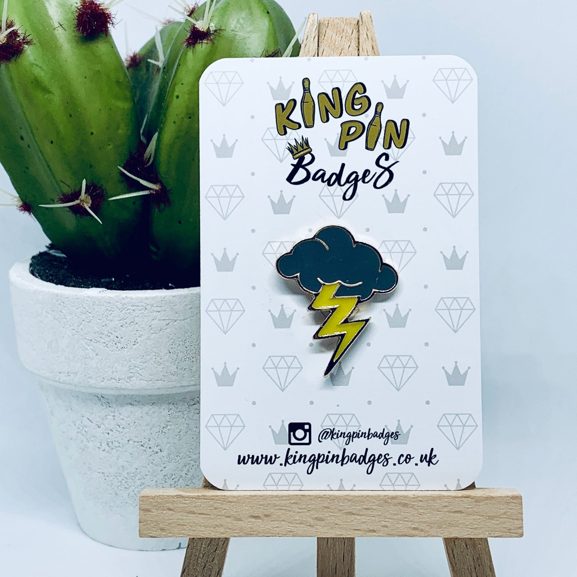GREY CLOUD Enamel Pin Badge