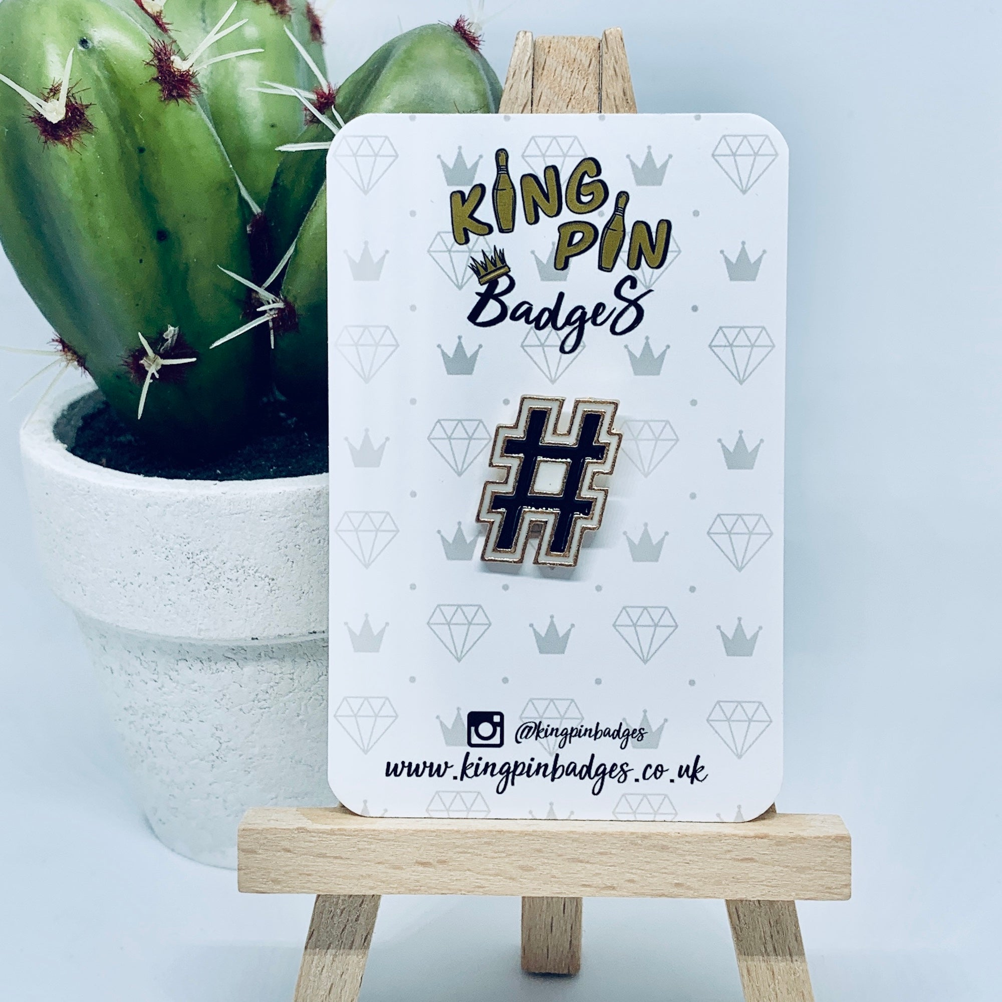 HASHTAG Enamel Pin Badge