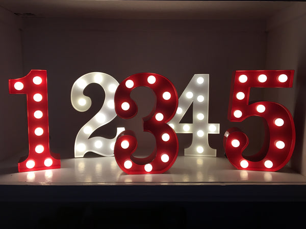2 - Metal LED Number Light