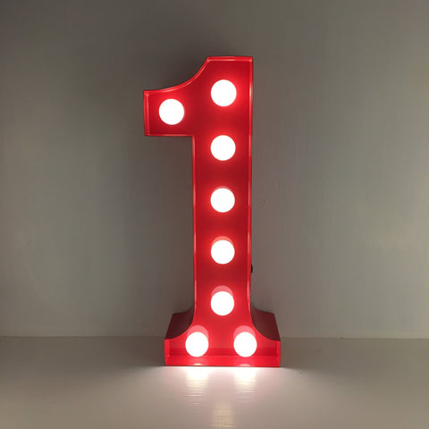 1 - Metal LED Number Light
