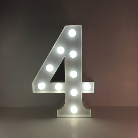 4 - Metal LED Number Light