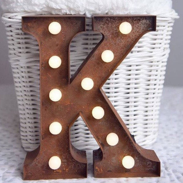 Metal K LED Letter Light