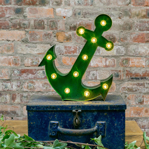 GREEN RUSTY ANCHOR LED Light (Large)
