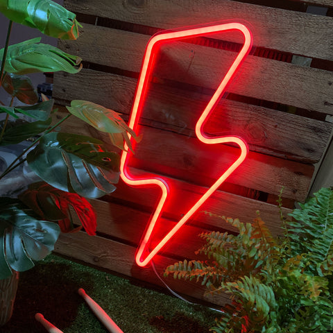 XL LIGHTNING BOLT Acrylic Neon LED Light
