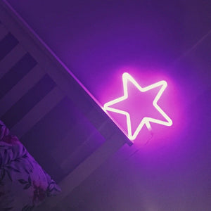 PINK STAR Acrylic Neon LED Light