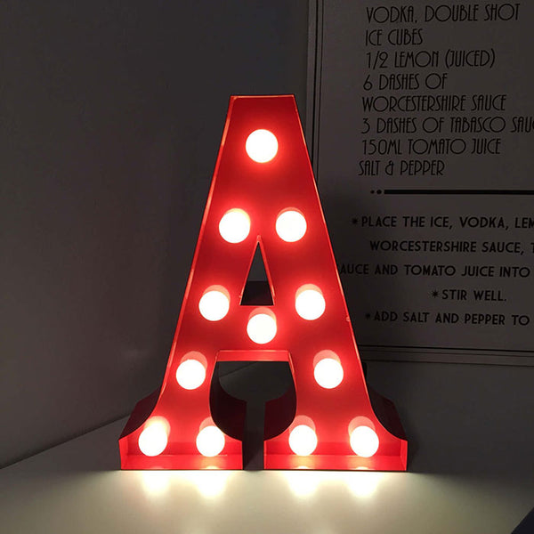 Metal A LED Letter Light