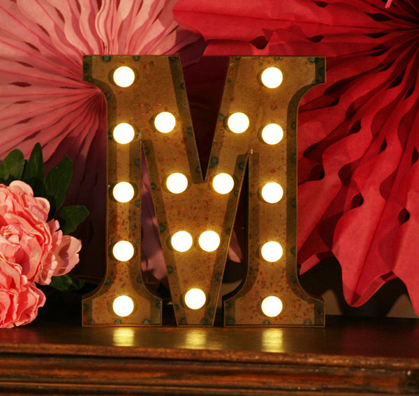 Metal M LED Letter Light