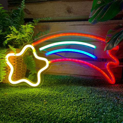 SHOOTING STAR Acrylic Neon LED Light
