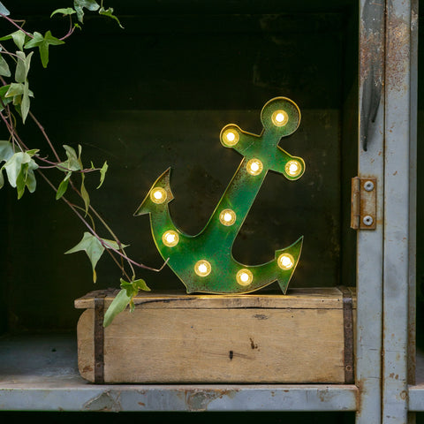 GREEN RUSTY ANCHOR LED Light (Small)