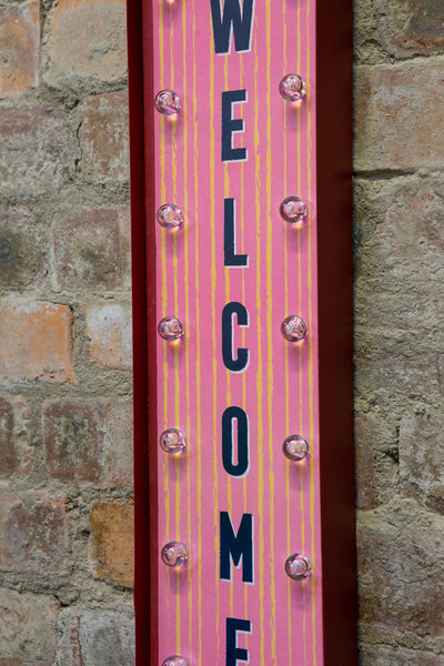WELCOME American Retro LED Sign