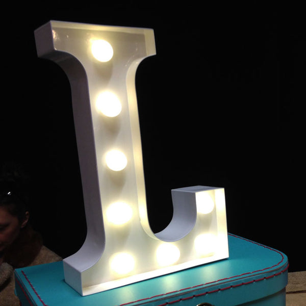 Metal L LED Letter Light