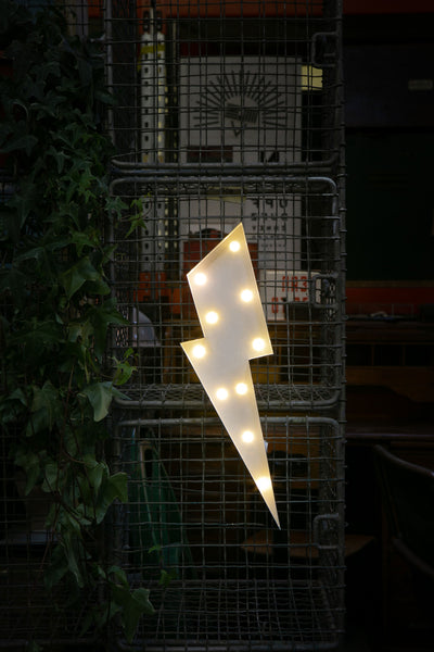 LIGHTNING BOLT LED Light - WHITE