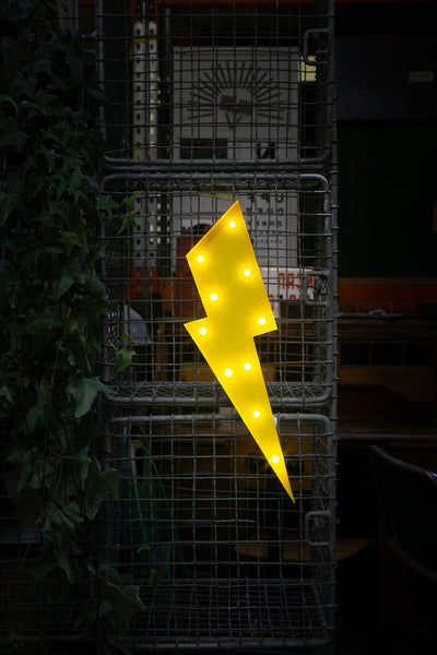 LIGHTNING BOLT LED Light - YELLOW