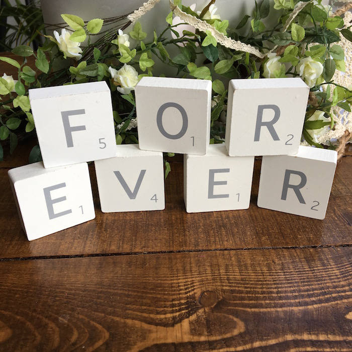 FOREVER Wooden Scrabble Blocks