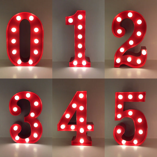 5 - Metal LED Number Light