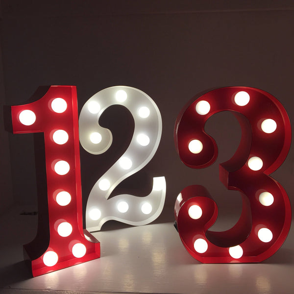 3 - Metal LED Number Light