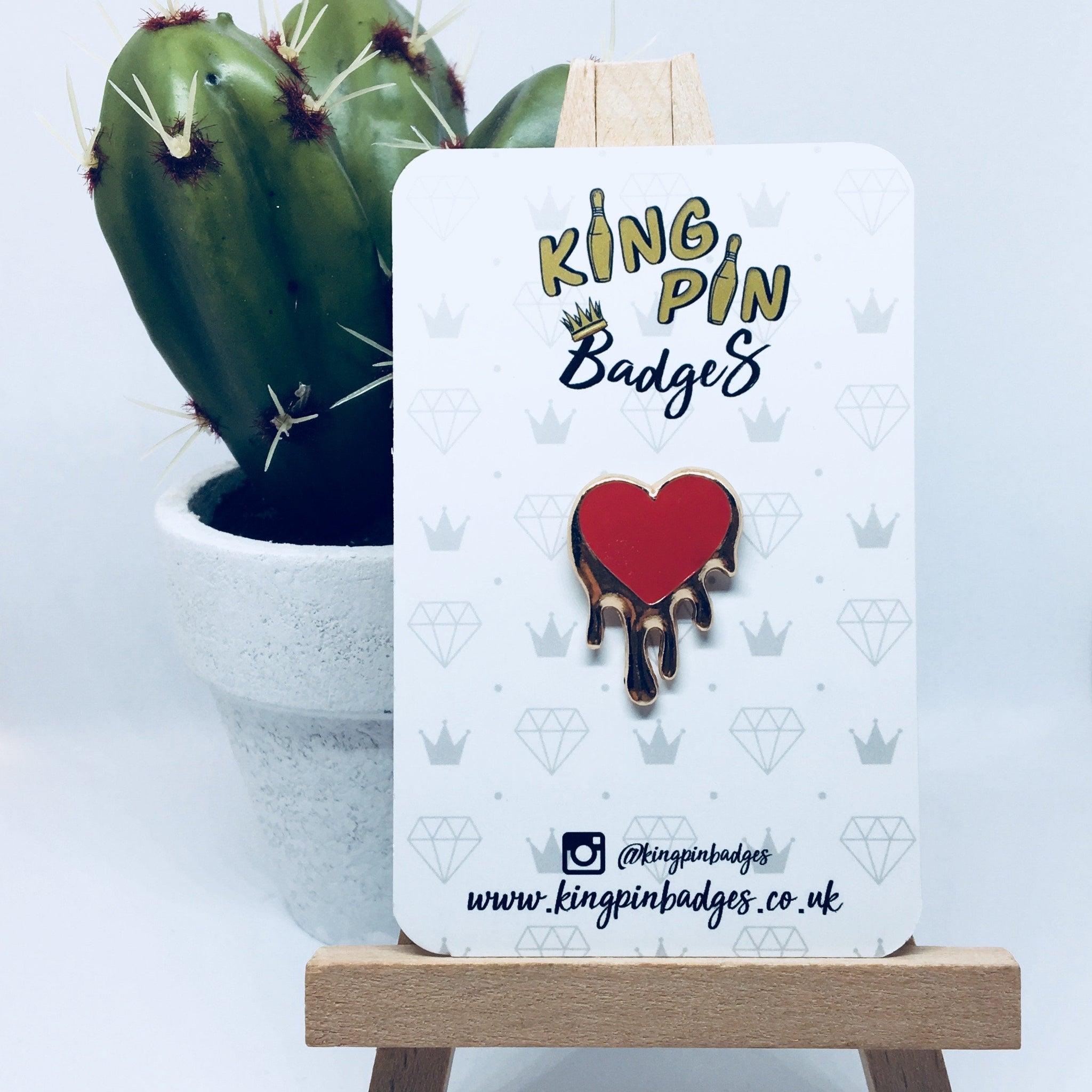 DRIPPING HEART Enamel Pin Badge