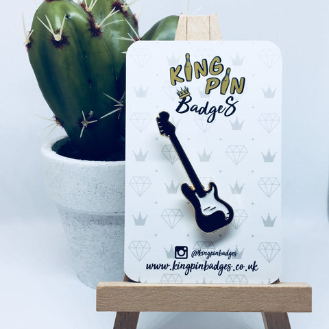 FENDER BASS GUITAR Enamel Pin Badge