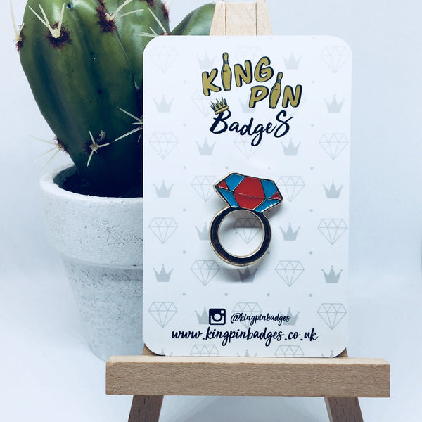 DIAMOND RING Enamel Pin Badge