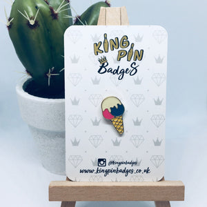 ICE CREAM Enamel Pin Badge