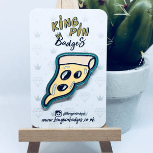 LARGE PIZZA SLICE Enamel Pin Badge