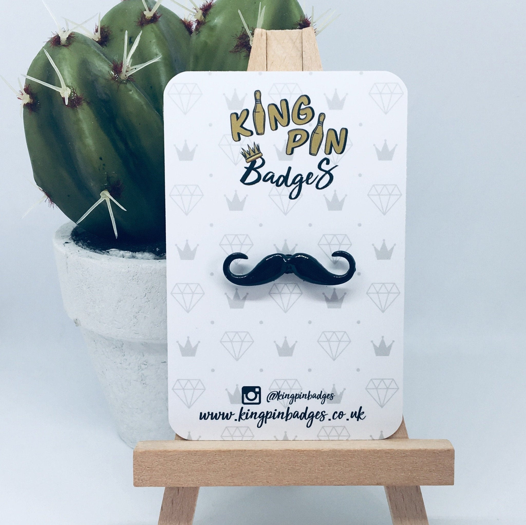 MOUSTACHE Enamel Pin Badge