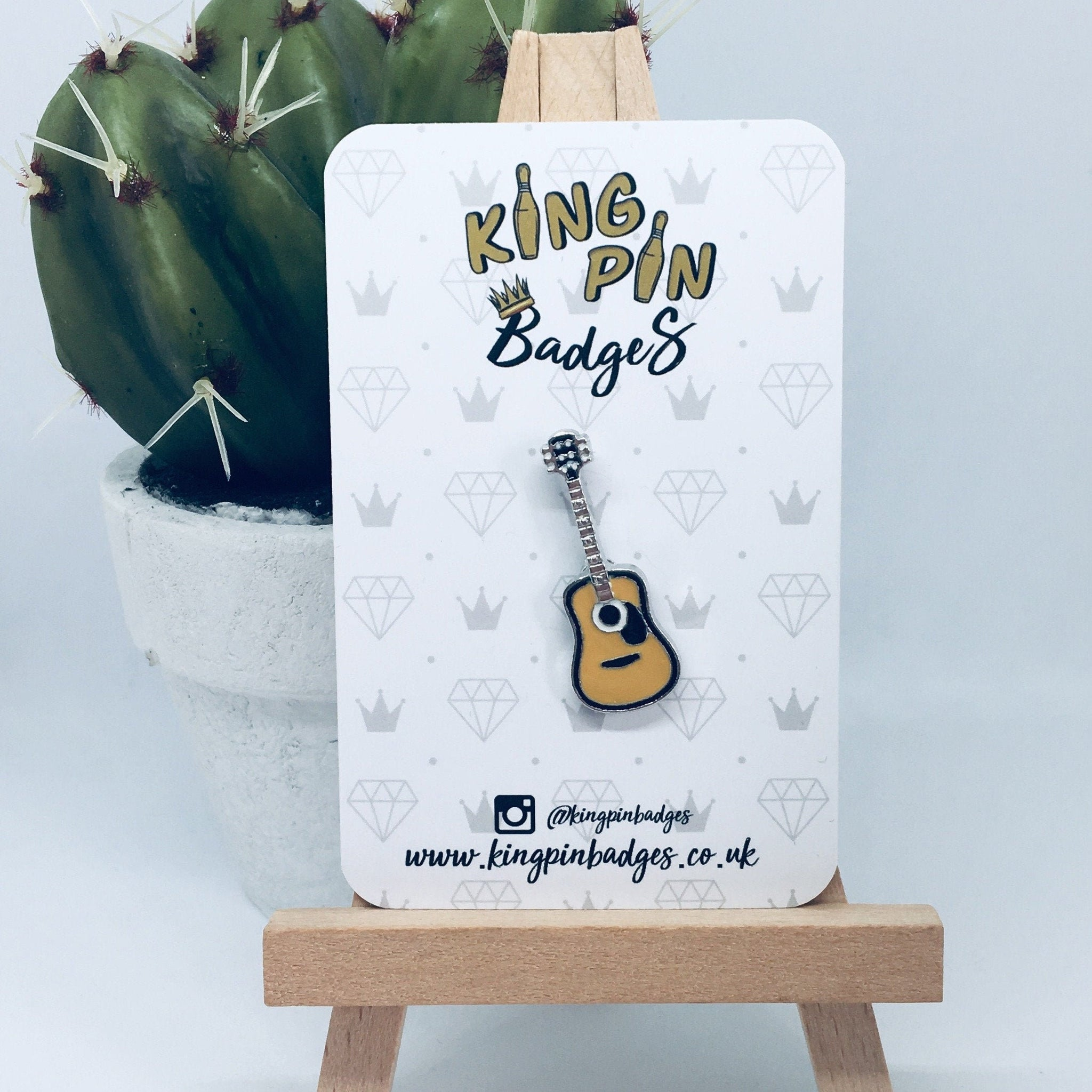 GUITAR Enamel Pin Badge