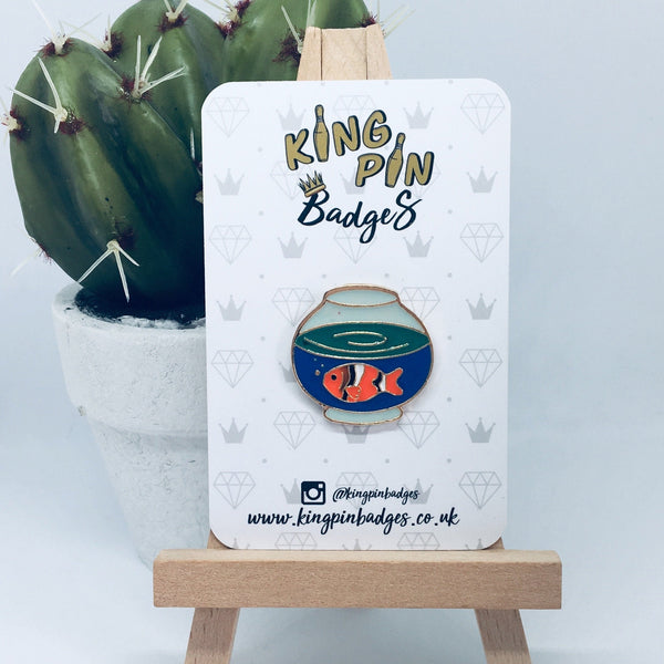 GOLDFISH BOWL Enamel Pin Badge