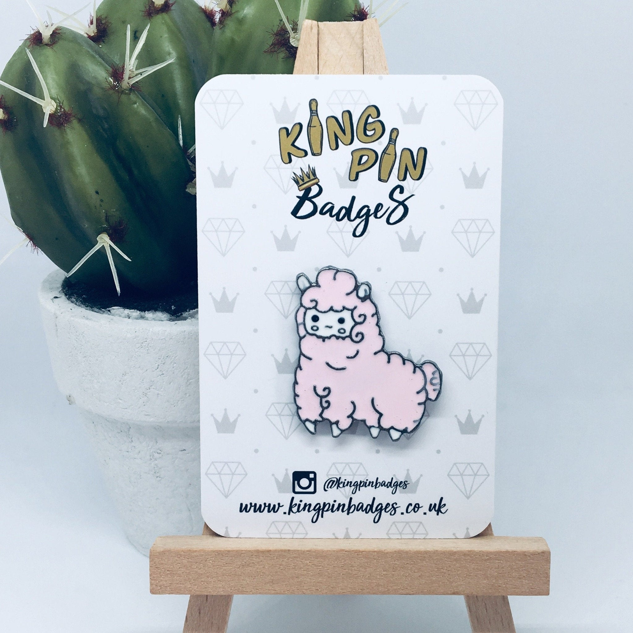 PINK ALPACA Enamel Pin Badge