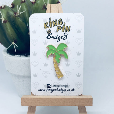 CHUNKY PALM TREE Enamel Pin Badge
