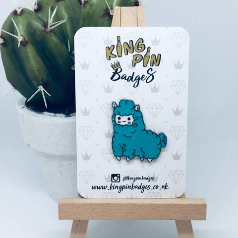 BLUE ALPACA Enamel Pin Badge