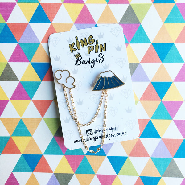 MOUNT FUJI Enamel Pin Badge