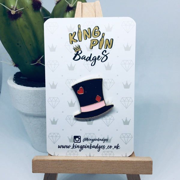 MAD HATTER Enamel Pin Badge