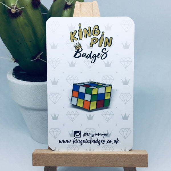 Rubik's Cube Enamel Pin Badge