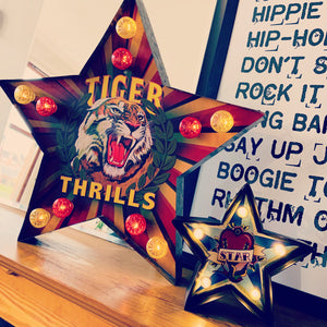 TIGER THRILLS Star Metal LED Light