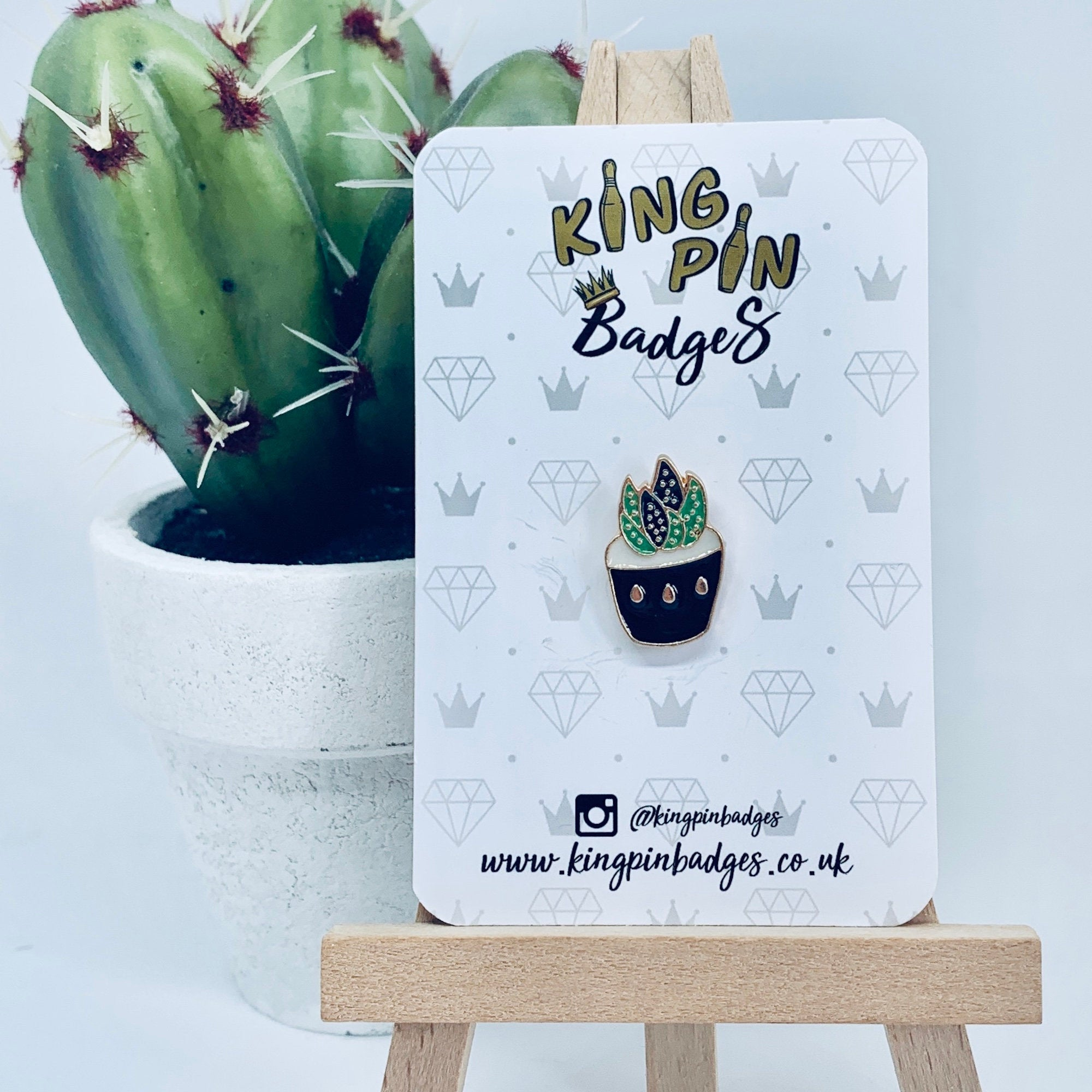 MINI SUCCULENT Enamel Pin Badge