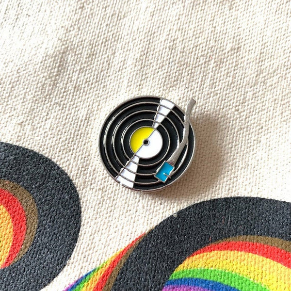 RECORD PLAYER Enamel Pin Badge
