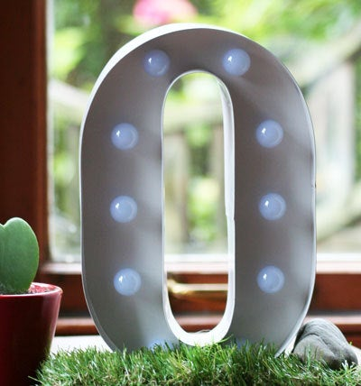 Metal O LED Letter Light