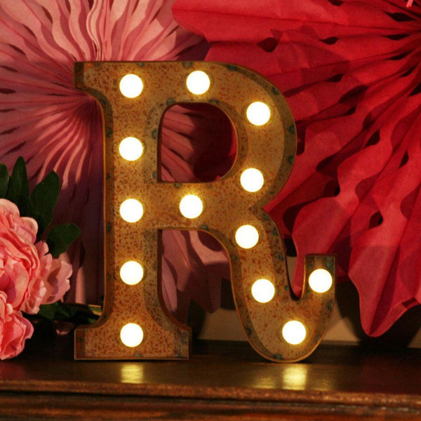 Metal R LED Letter Light