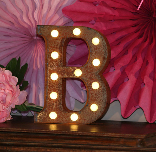 Metal B LED Letter Light