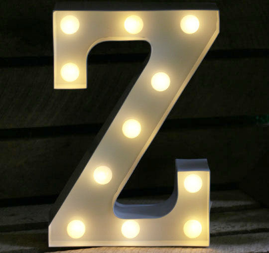 Metal Z LED Letter Light